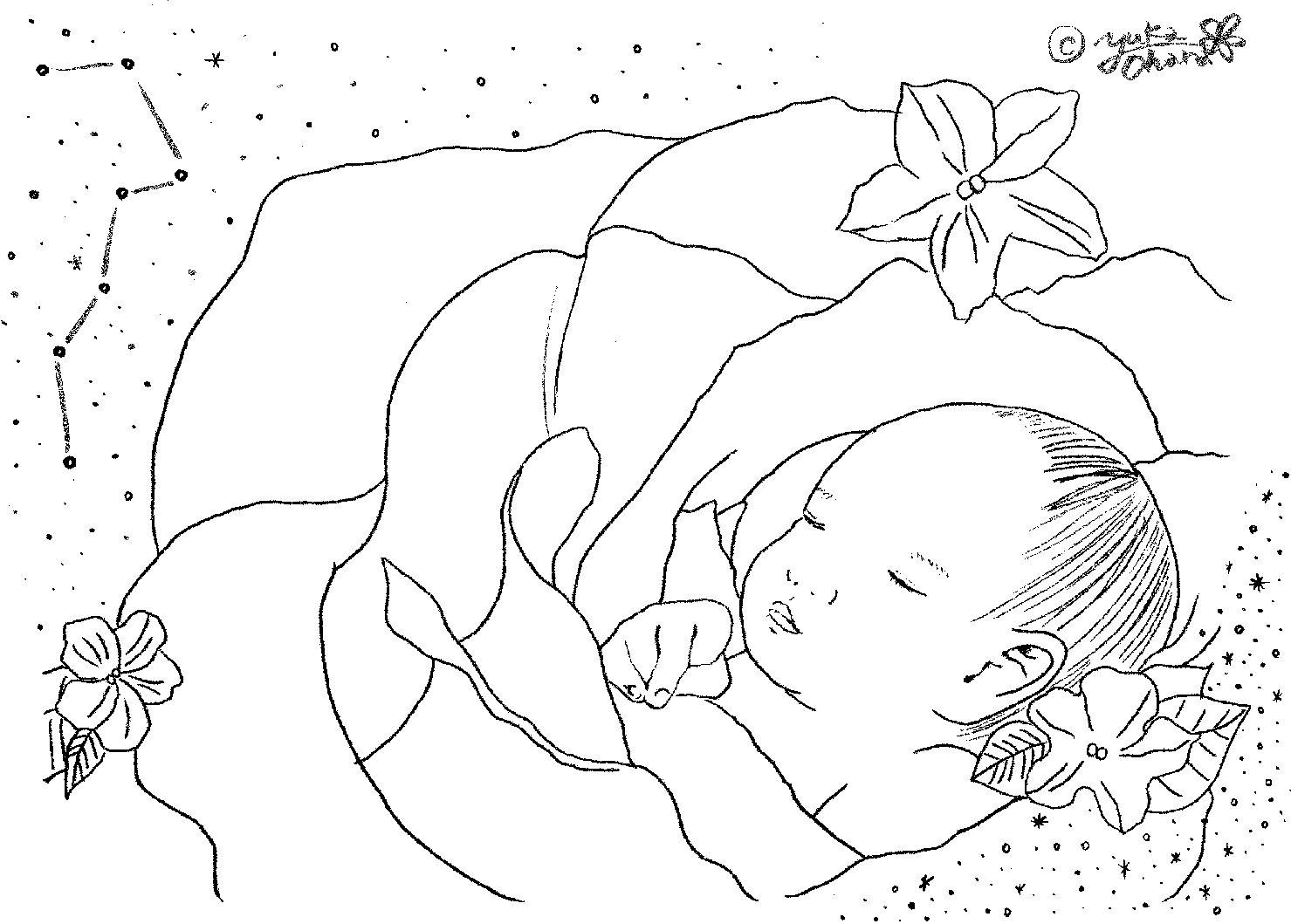 写真:ゆりかごの赤ちゃん